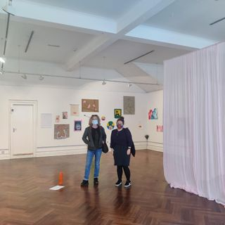Síle Penkert and Sandra Kelly discuss the 'i' exhibition at Garter Lane.