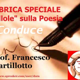 RUBRICA SPECIALE POESIE: II lezione Prof. Martillotto