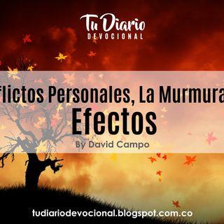 """Conflictos Personales, """"Murmuración"""",  Efectos"""