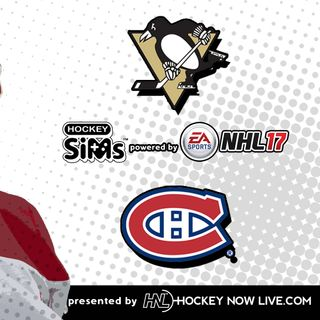 Penguins vs Canadiens (NHL 17 Hockey Sims)