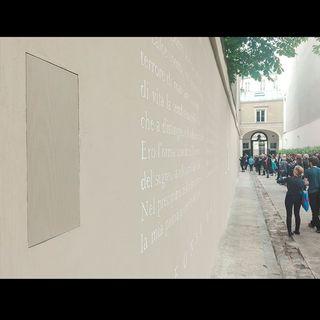 Opera multimediale Viale dei Canti presso l'istituto italiano di cultura a Parigi