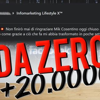 Da 0 a +20.000€ in 40 giorni con InfomarketingX