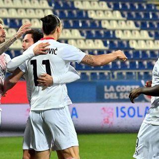 Serie A: Ibra lancia il Milan a Cagliari, rossoneri a un passo dal titolo d'inverno. E arriva anche Mandzukic