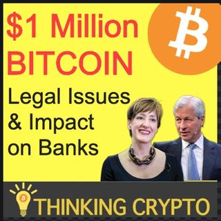 $1 Million BITCOIN Legal Issues & Impact on Banks Like JP Morgan - Coinbase Selling Your Data