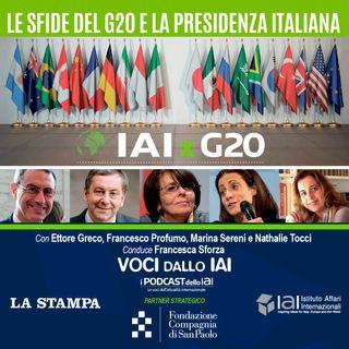 Le sfide del G20 e la presidenza italiana