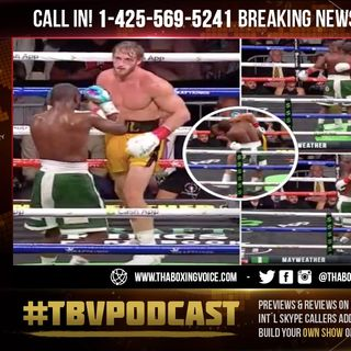 ☎️Floyd Mayweather KNOCKED OUT Logan Paul😱BUT Held Him Up to Keep The SHOW Going🤔
