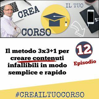 #12: Il metodo 3x3+1 per creare contenuti infallibili in modo semplice e rapido