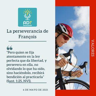 6 de mayo - La perseverancia de François - Devocional de Jóvenes - Etiquetas Para Reflexionar
