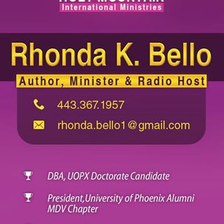 Diary of Pastor Rhonda Bello 9 September 2015.