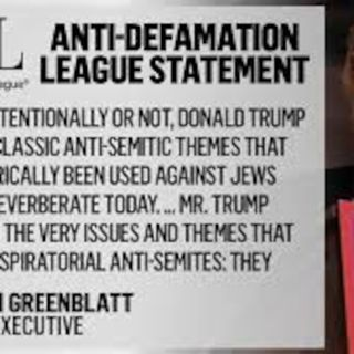 ADL Political Hit on Donald Trump