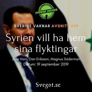 29. Syrien vill ha hem sina flyktingar