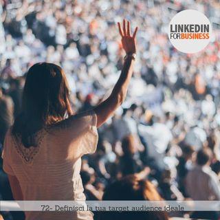 72- Definisci la tua target audience ideale