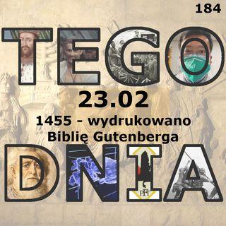 Tego dnia: 23 lutego (Biblia Gutenberga)
