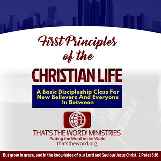 Teaching: First Principles of the Christian Life: Lesson 1 - This Great Salvation