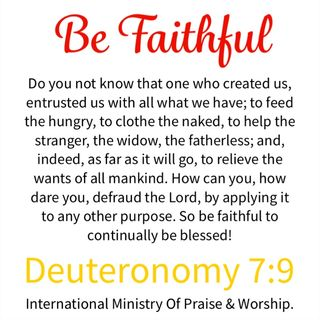Be Faithful