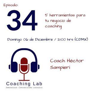"""Episodio #034 """"5 herramientas para tu negocio de coaching"""""""