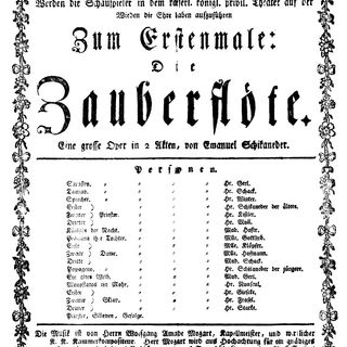 La Domenica di Ameria Radio  27 giugno 2021 ore 18.00 - W. A. Mozart Il Flauto Magico pagine scelte - crass, Peters, Lear, Bohm