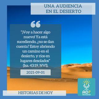 1 de septiembre - Una audiencia en el desierto - Devocional de Jóvenes - Etiquetas Para Reflexionar