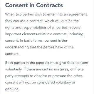 Consent contract binding and servitors part 2
