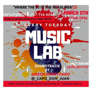 Music Lab 03/05/2019 with @DjOlBoy757 & @_Capo_Don_Juan (#DjSekoVarnerAndFriends)