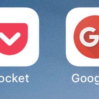Noticias de dos aplicaciones Google + y Pocket