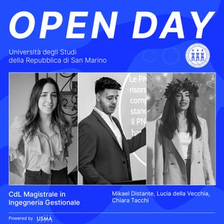 Open Day 2021 - Ingegneria Gestionale Magistrale - Lucia, Mikael e Chiara