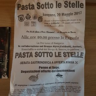 Pasta Sotto Le Stelle 2017 Sangano