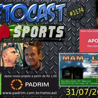 NETOCAST 1174 DE 31/07/2019 - ESPORTES - F1 - FUTEBOL - UFC