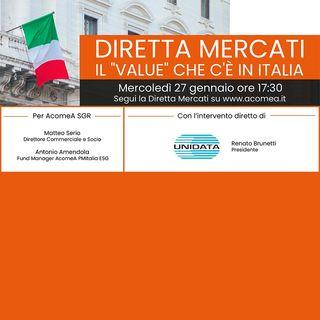 In diretta con con Renato Brunetti, Presidente di UNIDATA - Il Value che c'è in Italia