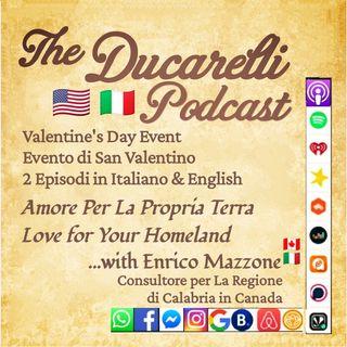 Amore Per La Propria Terra Love for Your Homeland Enrico Mazzone Consultore per La Calabria in Canada