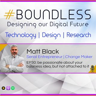 EP30: Matt Black, Serial Entrepreneur | Change Maker, be passionate about your business idea, but not attached to it