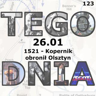 Tego dnia: 26 stycznia (Kopernik obronił Olsztyn)
