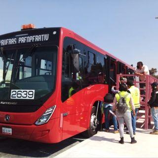 Inician pruebas de Metrobús en la Av. Tláhuac, para dar servicio a Línea 12 del Metro.