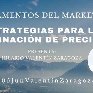 Estrategias para la asignación de precios 01-05JunValentínZaragoza