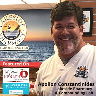 CBD Oil, with Apollon Constantinides, Lakeside Pharmacy & Compounding Lab (Episode 52, To Your Health with Dr. Jim Morrow)
