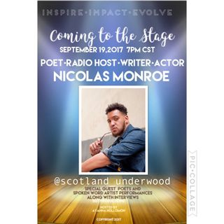 COMING TO THE STAGE :SPECIAL GUEST NICOLAS MONROE