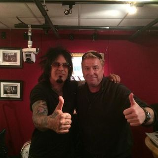 Nikki Sixx With Comedian Jimmy Shubert