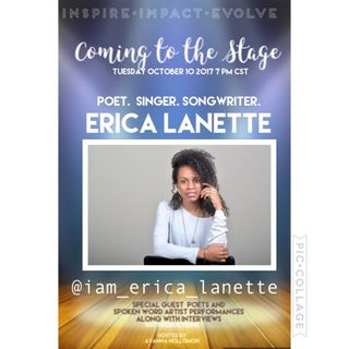 COMING TO THE STAGE:SPECIAL GUEST ERICA LANETTE