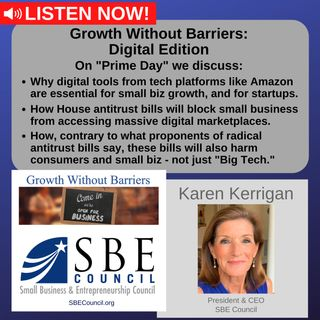 """Growth Without Barriers - DIGITAL EDITION: Prime Day, """"Big Tech"""" antitrust bills, and why platforms like Amazon are essential for small biz."""