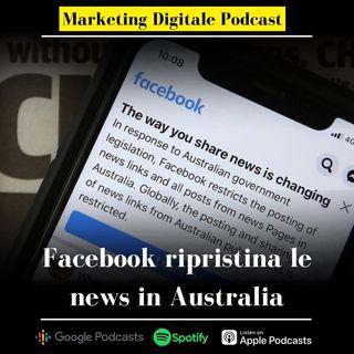 Facebook ripristina news in Australia, trovato l'accordo