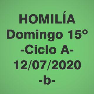 Homilía - Domingo 15 - 12 julio 2020 -2