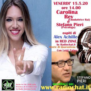 Carolina Rey e Stefano Pieri ospiti di Alex Achille in RED ZONE by  Radiochat.it