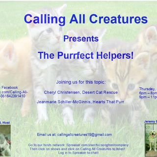 Calling All Creatures Welcomes Cheryl Christensen and Jeanmarie Schiller-McGinnis