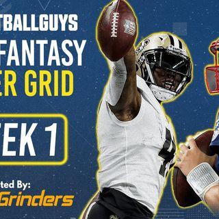 Footballguys DFS Power Grid Week 1 - Presented by RotoGrinders - Fantasy Football 2021