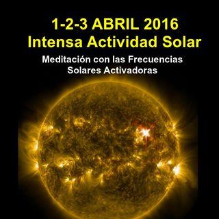 FRECUENCIAS SOLARES ABRIL 2016