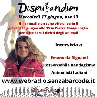 Animalisti in Campidoglio a manifestare per gli animali di Roma