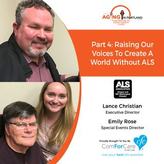5/26/18: Lance Christian and Emily-Rose Wiitala of the ALS Association's Oregon and SW Washington Chapter