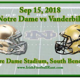 Irish Football Weekly W/Tony Hunter: Notre Dame-Vanderbilt Preview