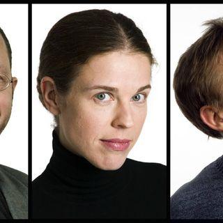 Per Naroskin: Hybridmänniskor och datavirus. Jessika Gedin: Den nya saklösheten. Göran Everdahl: Hacka dig fri!