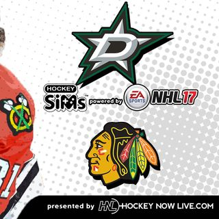 Stars vs Blackhawks (NHL 17 Hockey Sims)